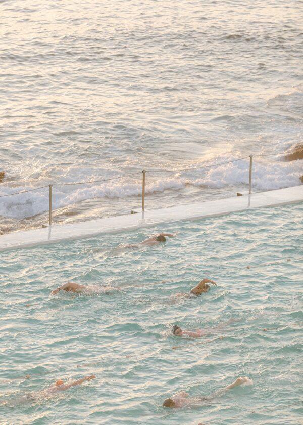 Sunrise Strokes at Bondi Beach , Icebergs Pool. Holly Clark Editions.