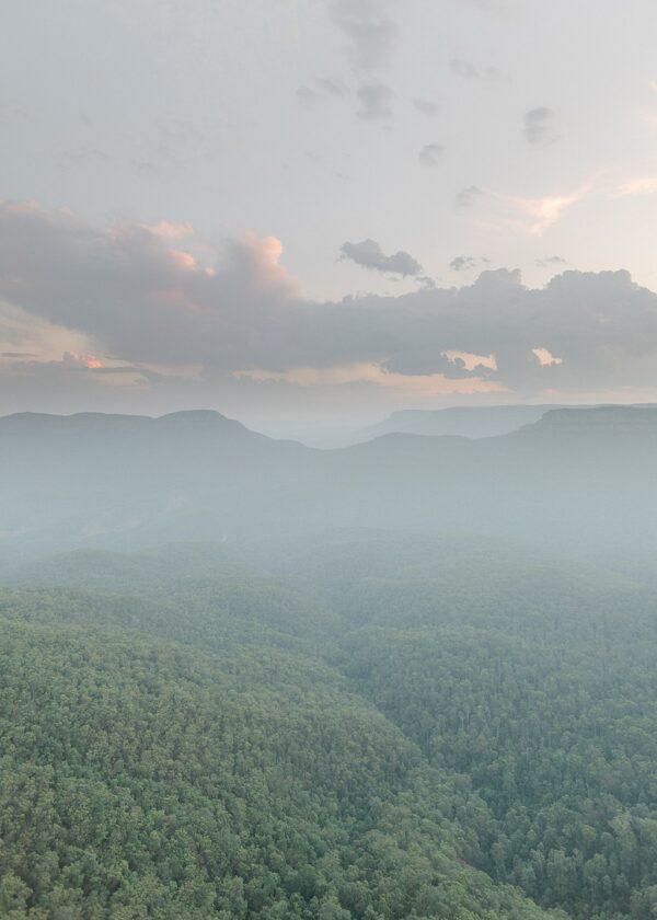 blue mountains Australia print