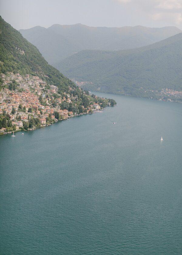 Aerial View of Lake Como