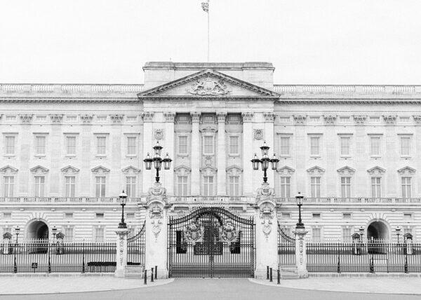 Buckingham Palace Black and Whit Print