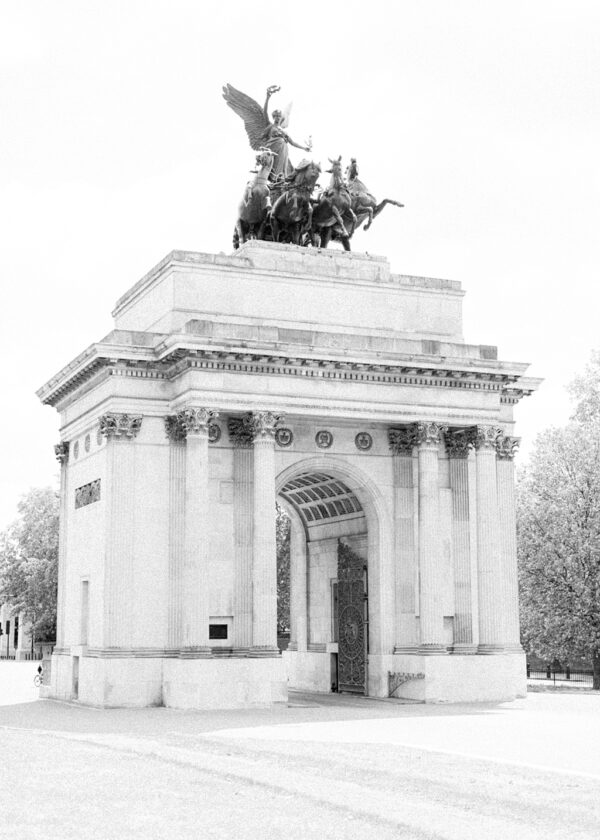 Wellington Arch - black and white print