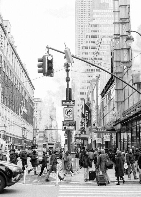 Buzzing New York Street Print