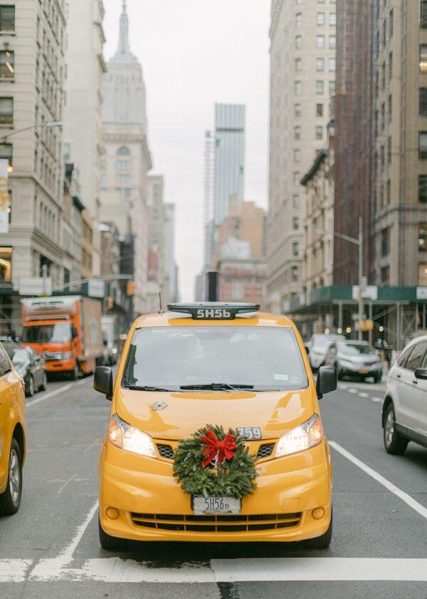 Christmas Cab NYC Print