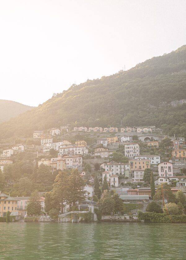 Lake Como Sunset Italy