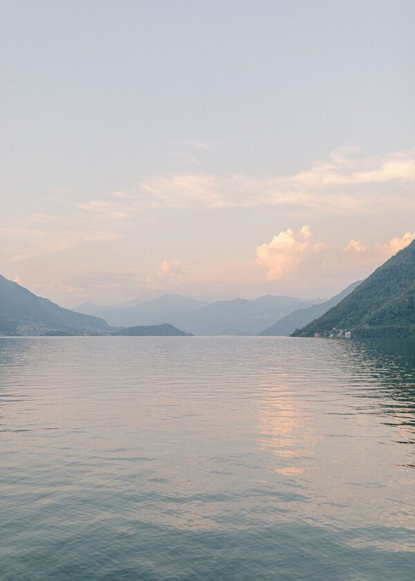 Lake Como Sunset from Crotto dei Platani - Holly Clark Editions