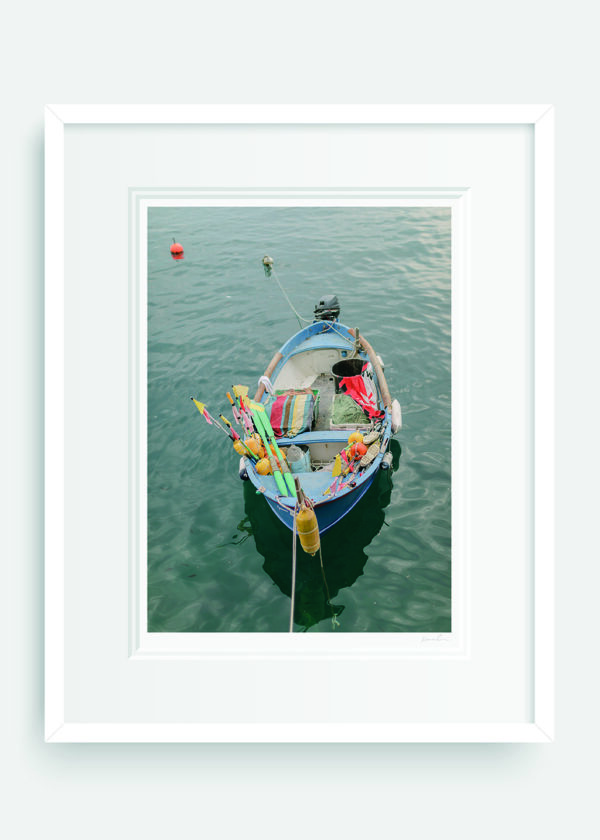 Fisherman Mooring. Cinque Terre. Holly Clark Editions.
