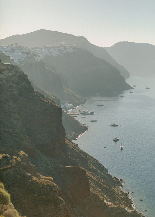 Black Cliffs of Santorini