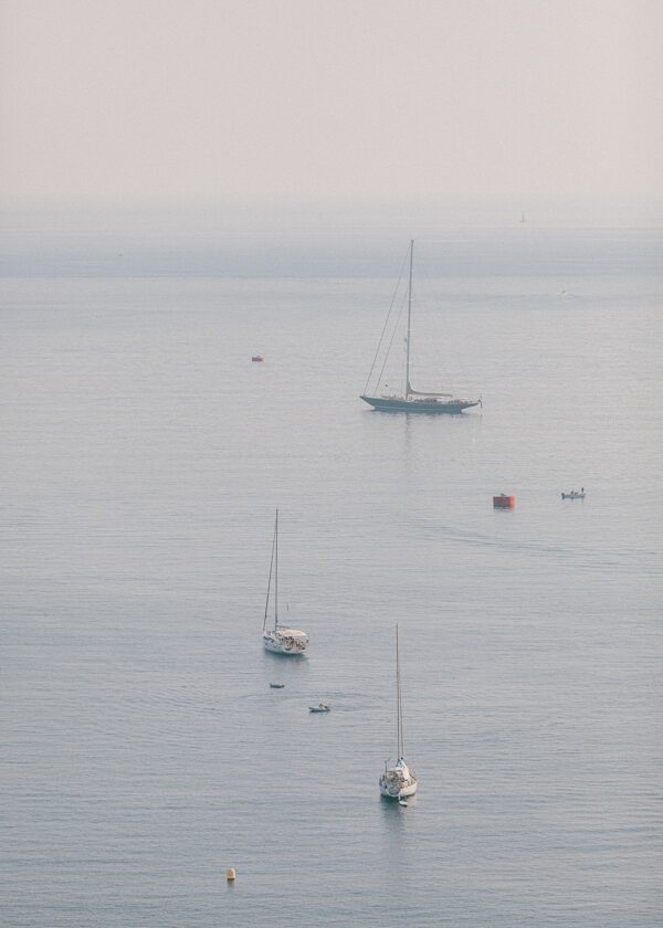 Summers view over the sea from Villefranche-sur-Mer