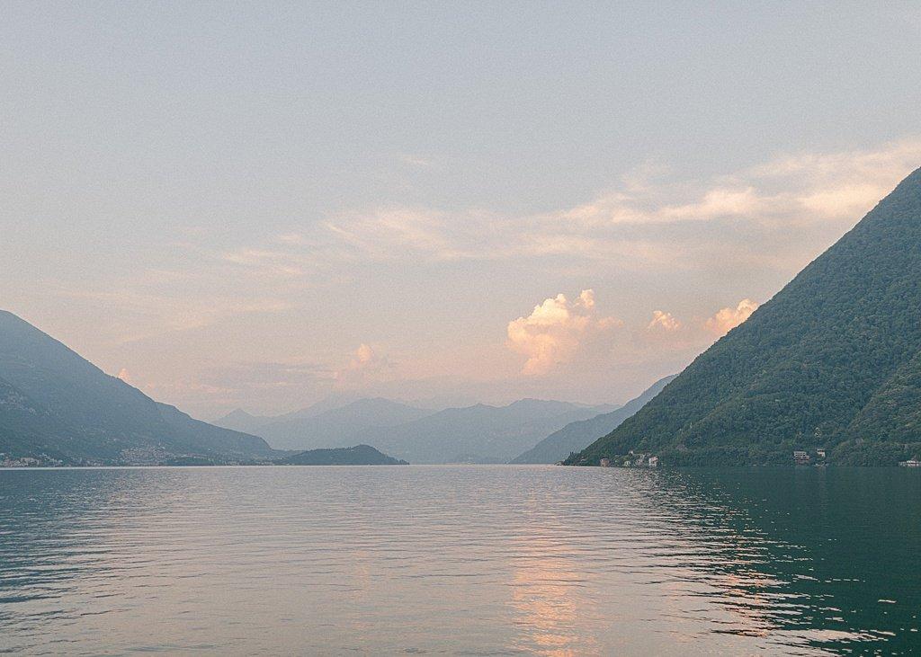 Lake Como Purple Sunset